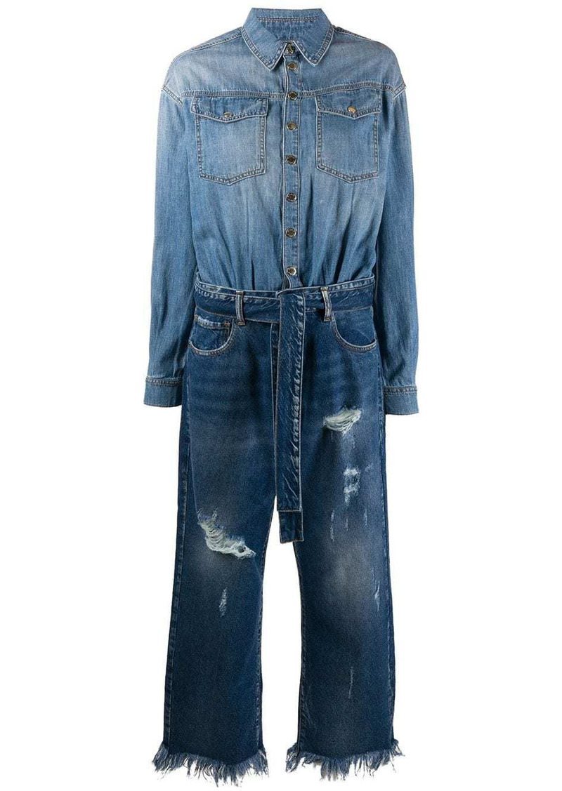 Pinko distressed cropped jumpsuit