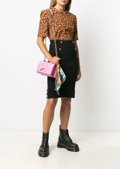 Pinko embossed-button skirt