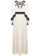 Pinko embroidered cape-effect layered dress