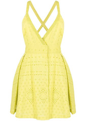 Pinko empire line embroidered short dress