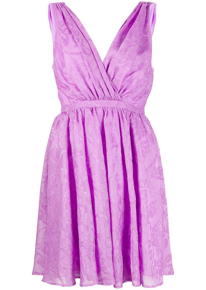 Pinko empire line floral-print short dress