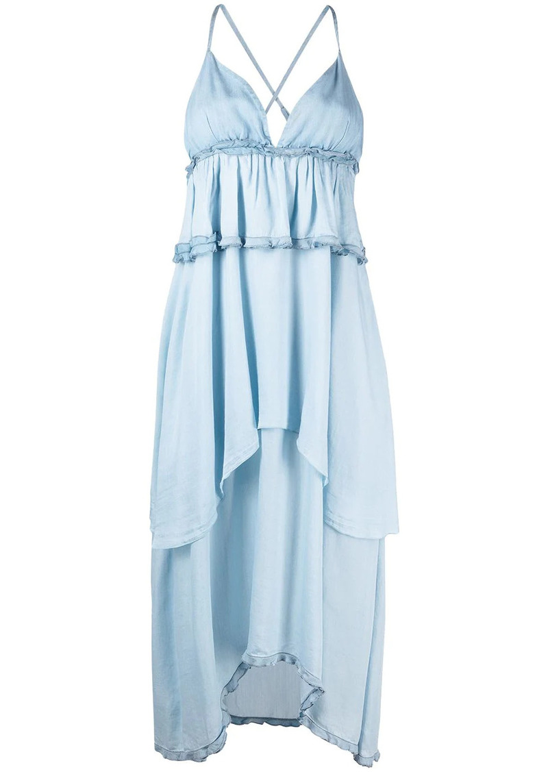 Pinko empire-waist tiered layered dress