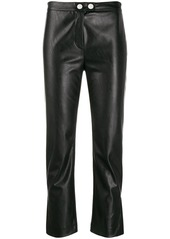 Pinko faux leather cropped trousers