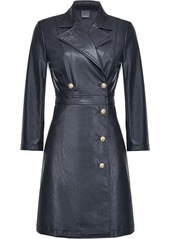 Pinko faux-leather double-breasted dress