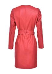 Pinko faux-leather wrap dress