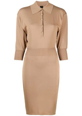 Pinko fine-knit fitted dress