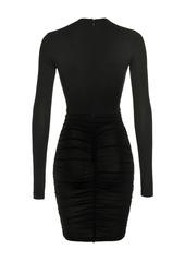 Pinko fitted ruffle-detail dress
