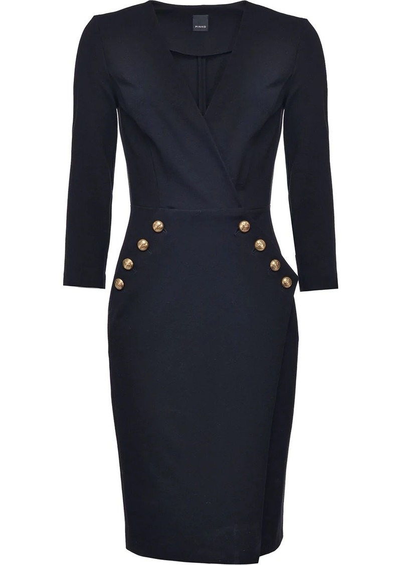 Pinko fitted wrap dress