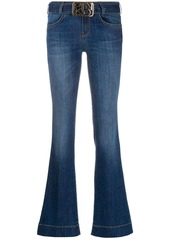 Pinko Flare-fit belted jeans