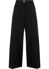 Pinko flared cropped trousers