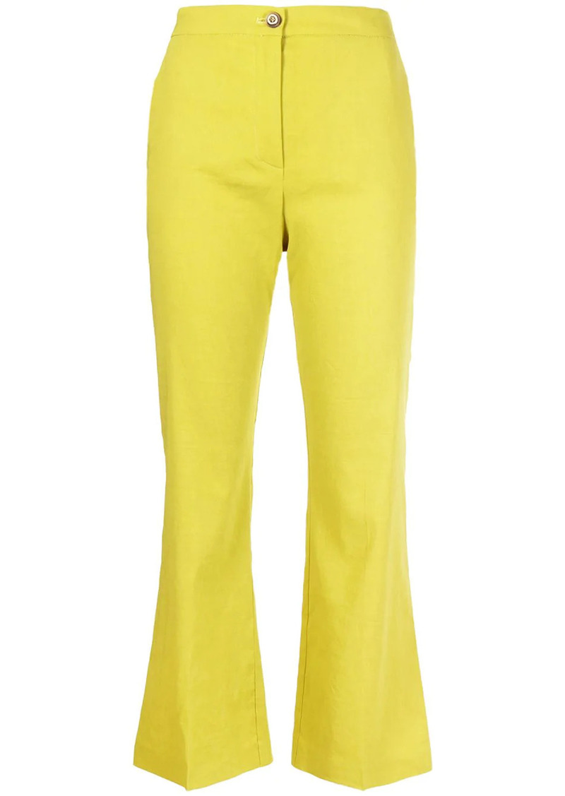 Pinko flared linen-blend trousers