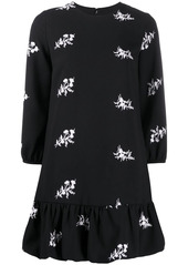 Pinko floral embroidered mini dress
