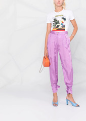 Pinko floral-jacquard trousers