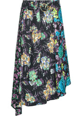 Pinko floral-print asymmetric skirt