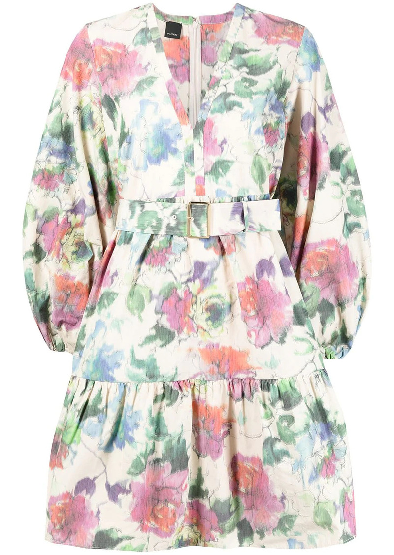 Pinko floral-print belted dress