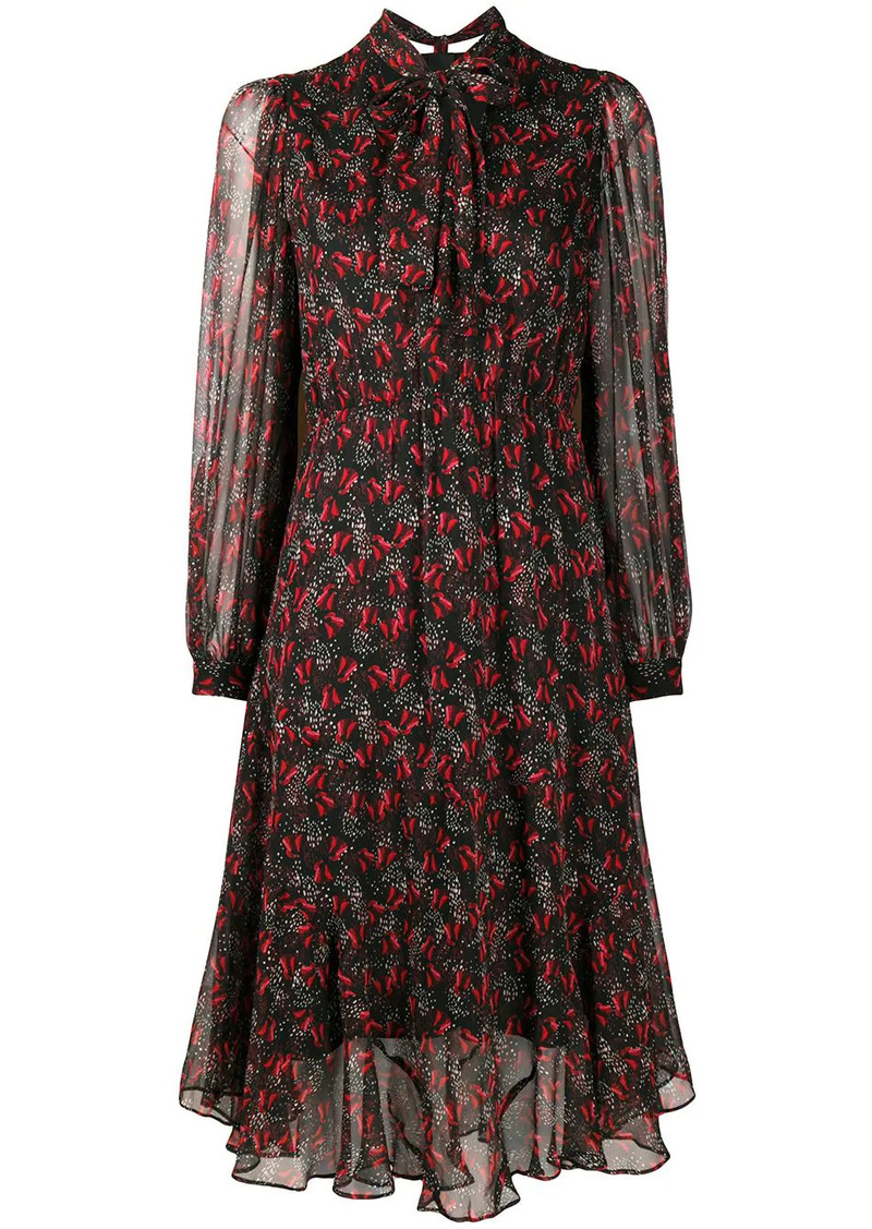 Pinko floral print bow tie dress