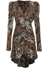 Pinko floral-print ruched dress