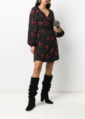 Pinko floral print wrap dress