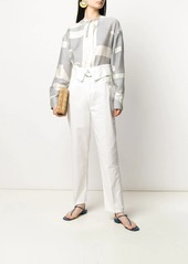 Pinko foldover waist trousers