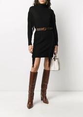 Pinko fringe-embellished sweater dress