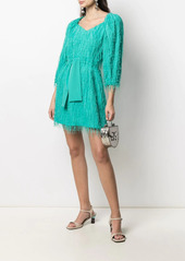 Pinko fringed belted dress