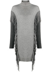 Pinko fringed jumper dress