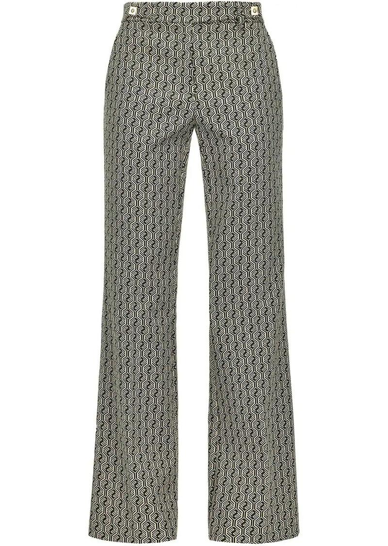 Pinko geometric pattern trousers