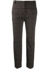 Pinko geometric-print tapered trousers