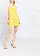 Pinko halterneck buttoned dress