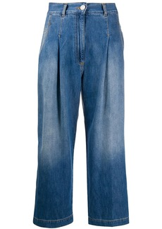 Pinko high-rise denim culottes