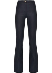 Pinko high-rise flared pinstripe trousers