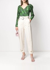 Pinko high-rise peg trousers