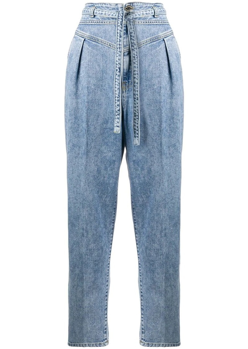 Pinko high-waist belted jeans