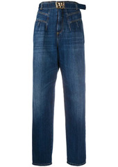 Pinko high-waisted belted jeans