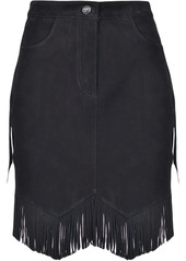 Pinko high-waisted fringed skirt