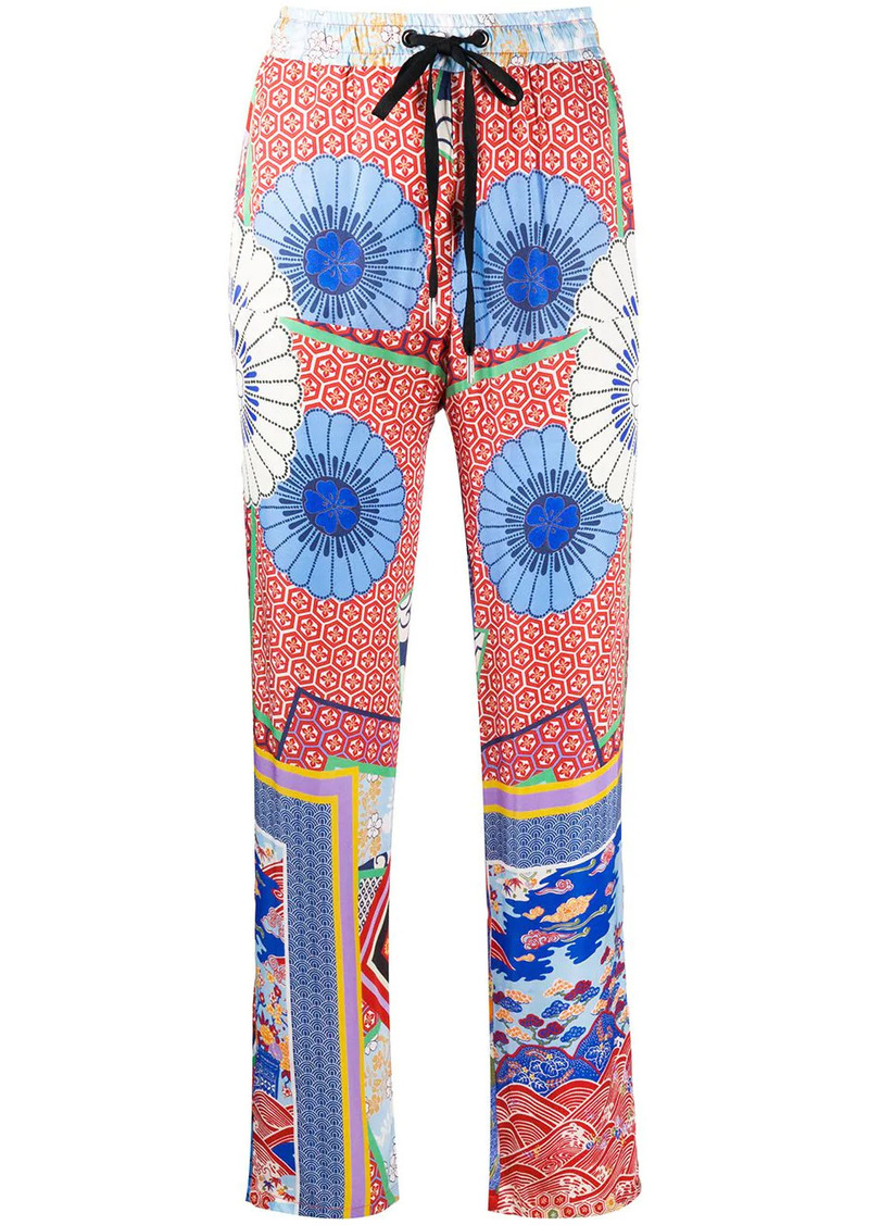 Pinko high-waisted patterned trousers