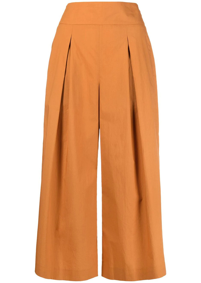 Pinko high-waisted pleated culottes