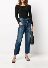 Pinko high-waisted wide leg jeans