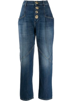 Pinko high-waisted wide leg jeans