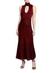Pinko Horten Sleeveless Keyhole Maxi Dress