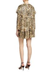 Pinko Ippolito Leopard-Print Mini Dress
