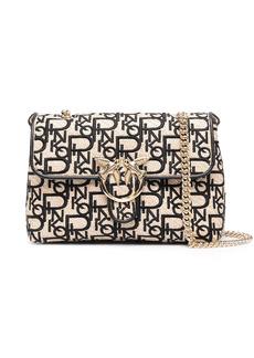 Pinko jacquard Love crossbody bag