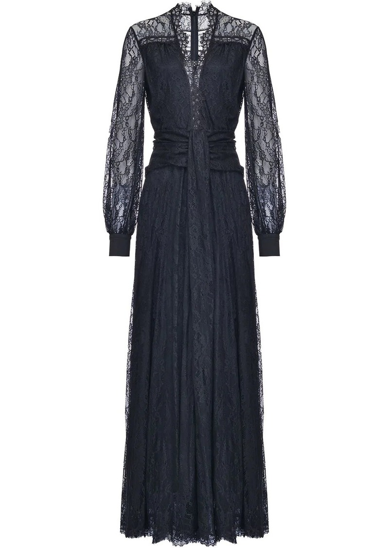 Pinko lace embroidered sheer sleeve dress