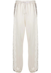 Pinko lace panel track trousers