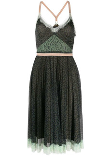 Pinko lace-trim mini dress