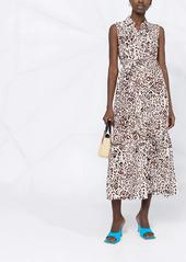 Pinko leopard-print mid-length dress