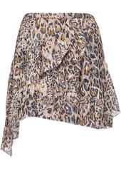 Pinko leopard print midi skirt