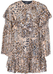 Pinko leopard print ruffled dress