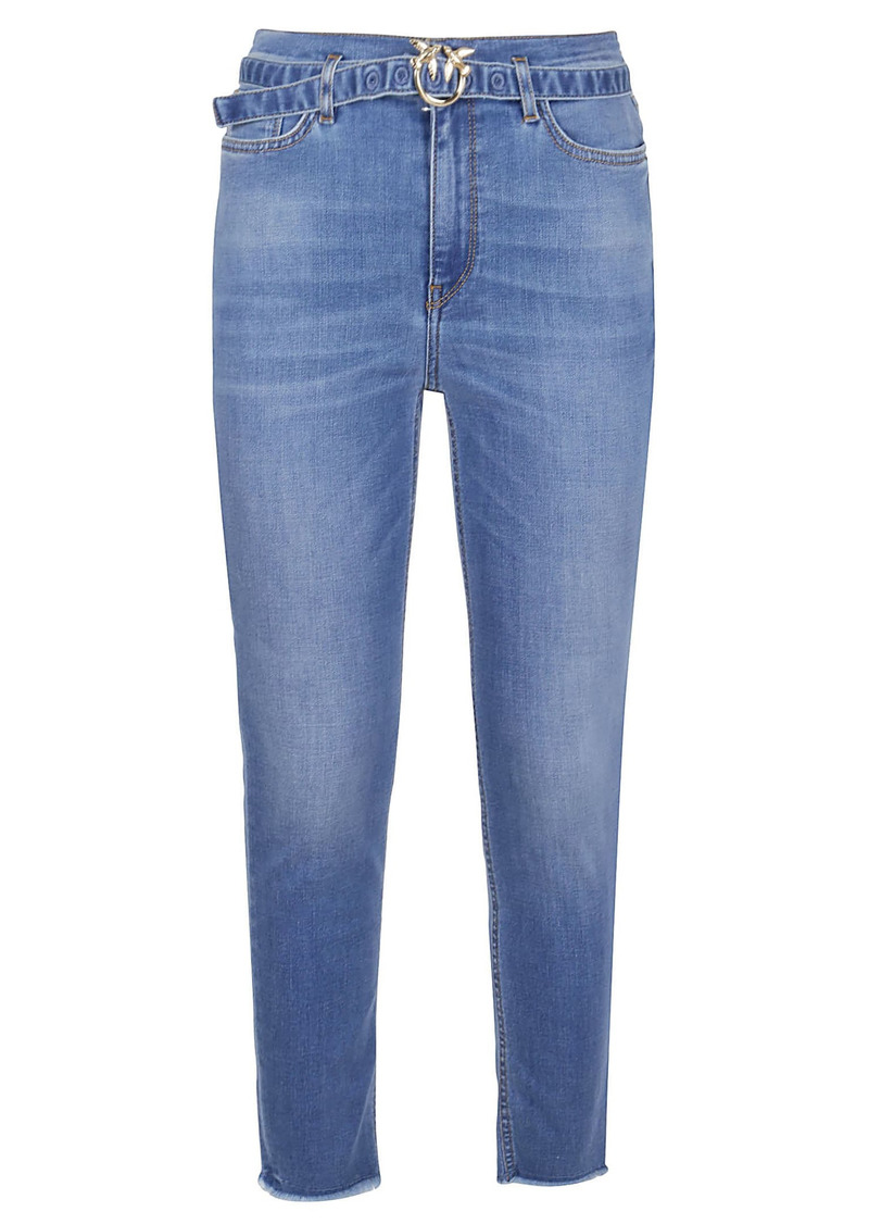 Pinko Light Blue Cotton Jeans