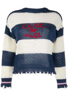 Pinko logo stripe jumper